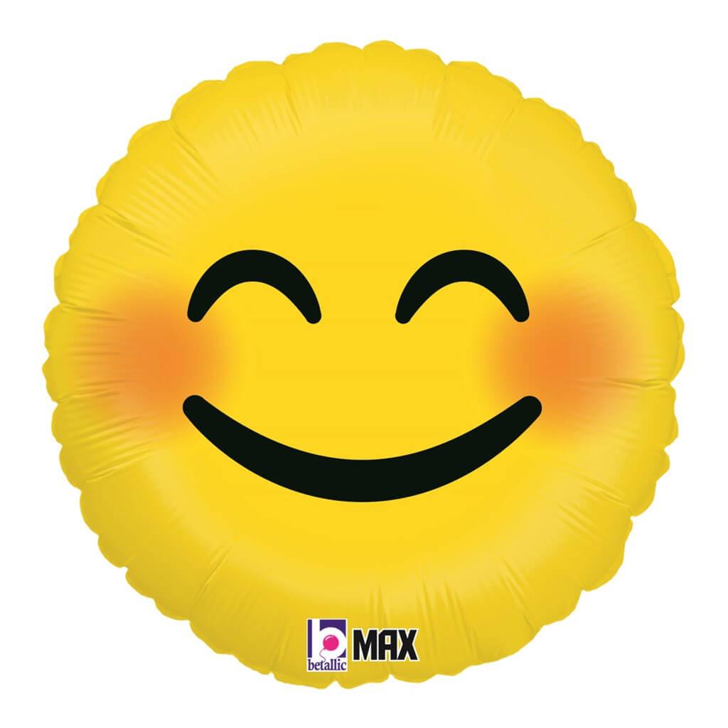 Ballon Emoji Jaune Smiley ø45cm
