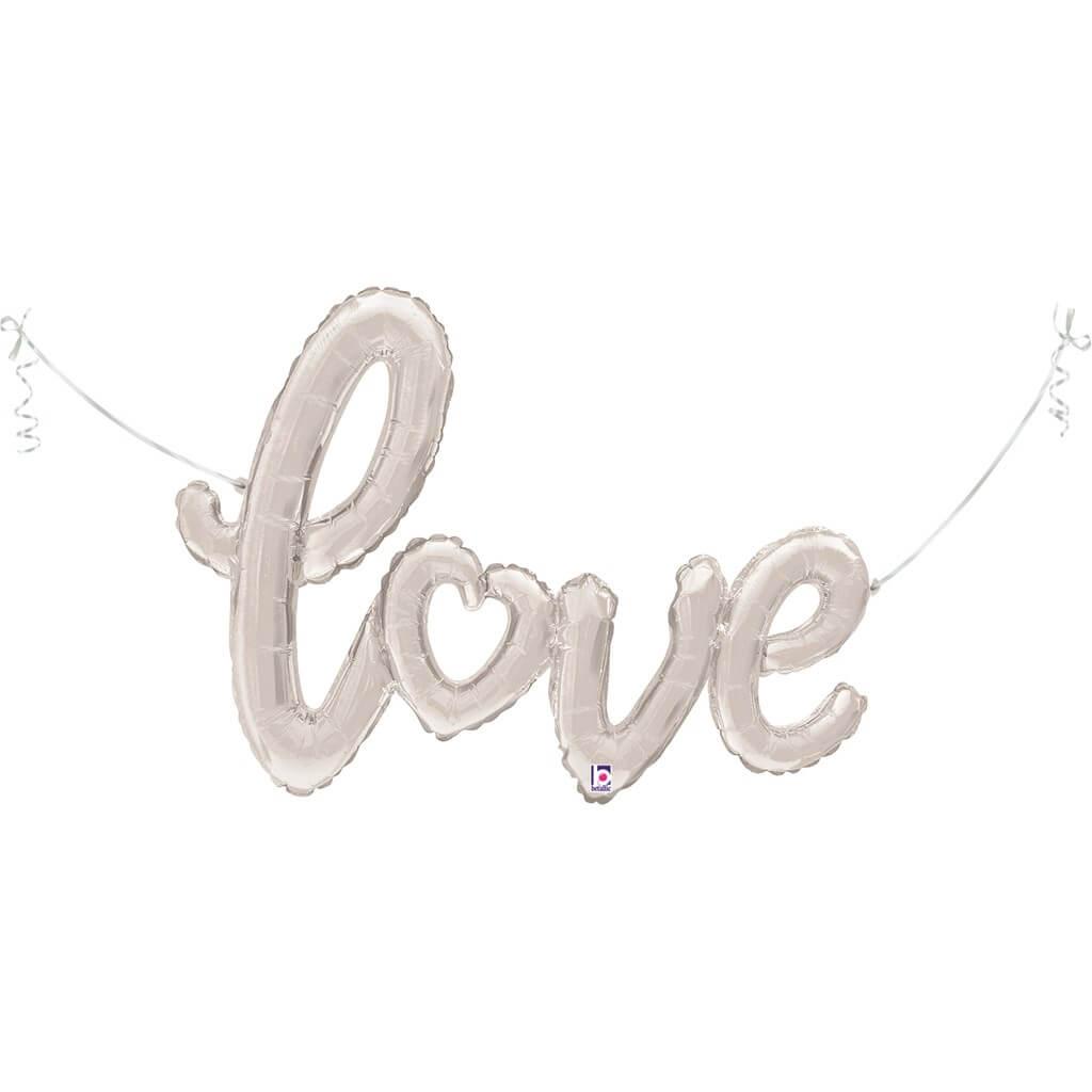 Ballon Métallique Love argent 119cm