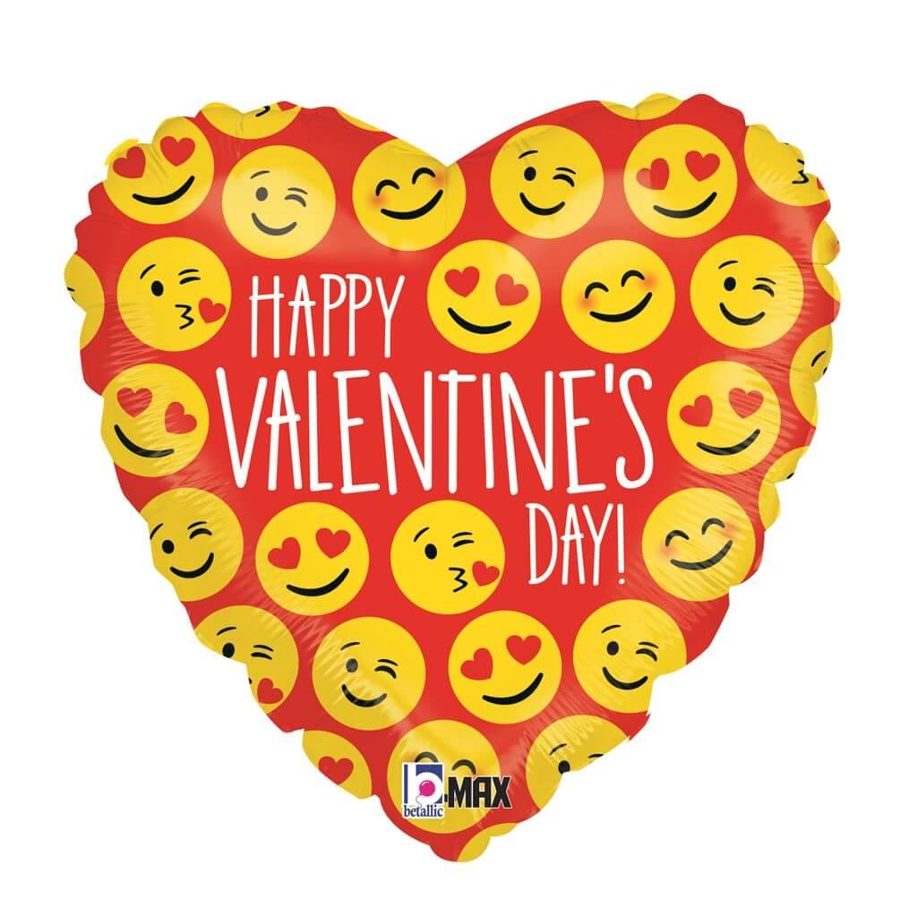 Ballon Coeur Happy Valentine's Day 45cm