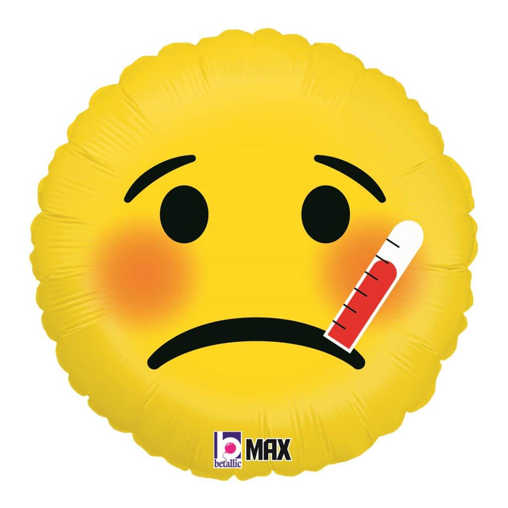 Ballon Emoji Malade ø45cm