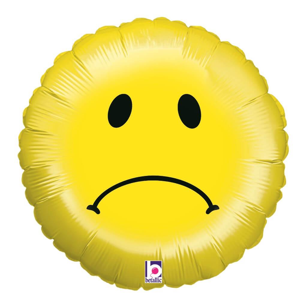 Ballon Emoji Smiley triste ø45cm