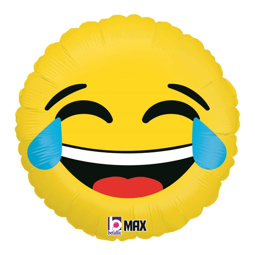 Ballon Emoji Jaune LOL ø45cm