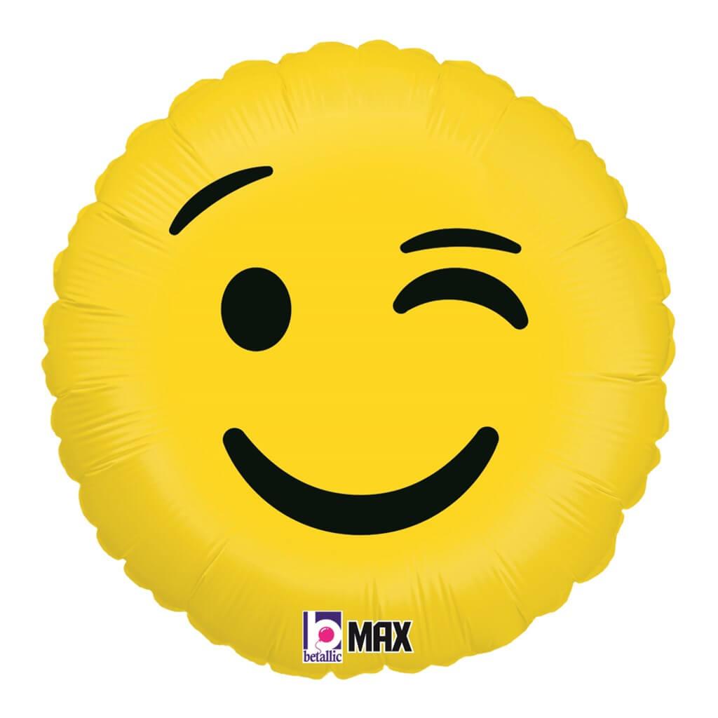 Ballon Emoji Clin d'oeil ø45cm