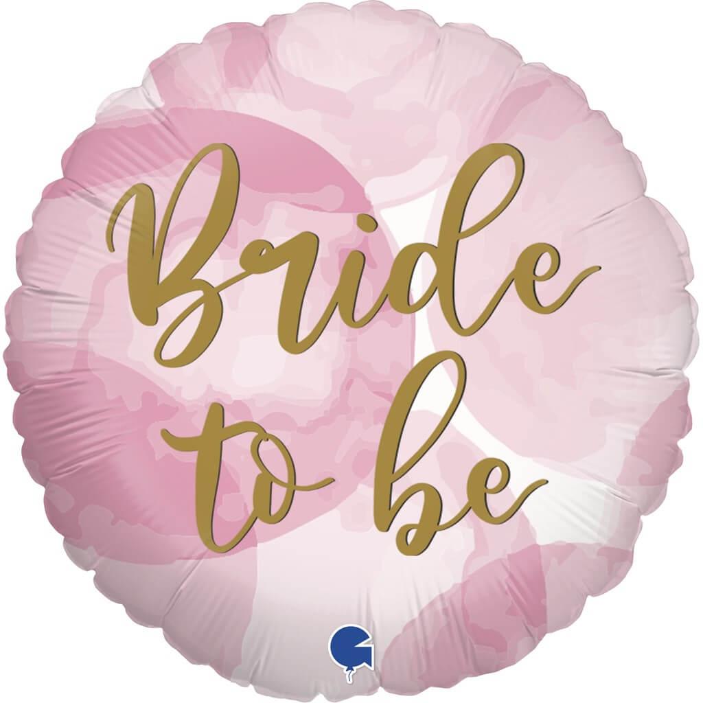 Ballon Bride to Be Or Effet Rose ø45cm