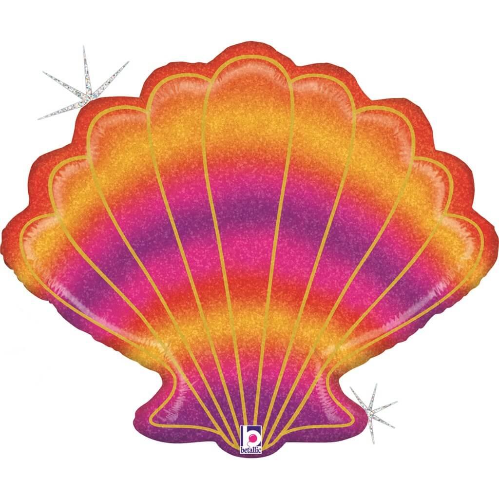 Ballon Hélium Coquillage Rainbow 76cm