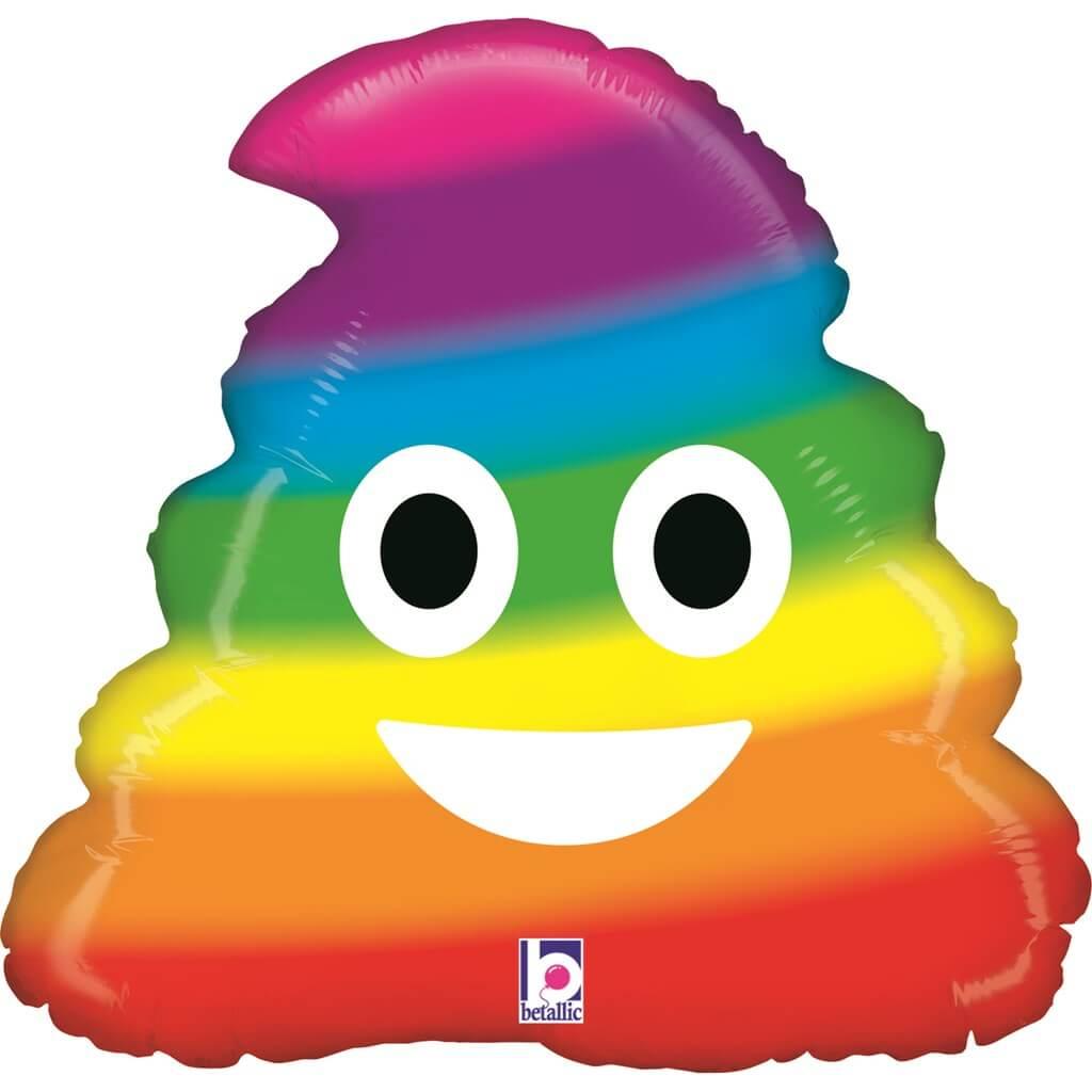 Ballon Emoji Caca Rainbow ø51cm