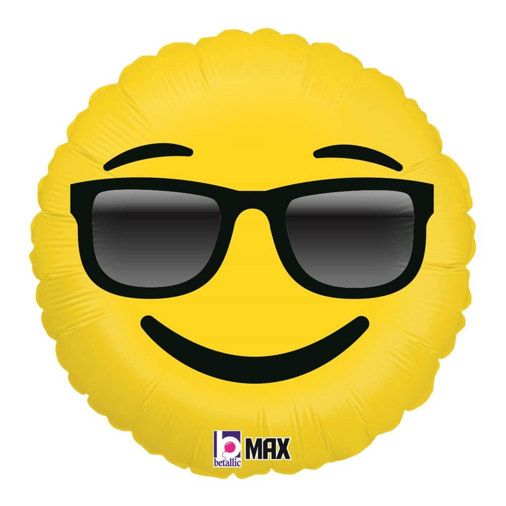 Ballon Emoji Lunettes Soleil ø45cm