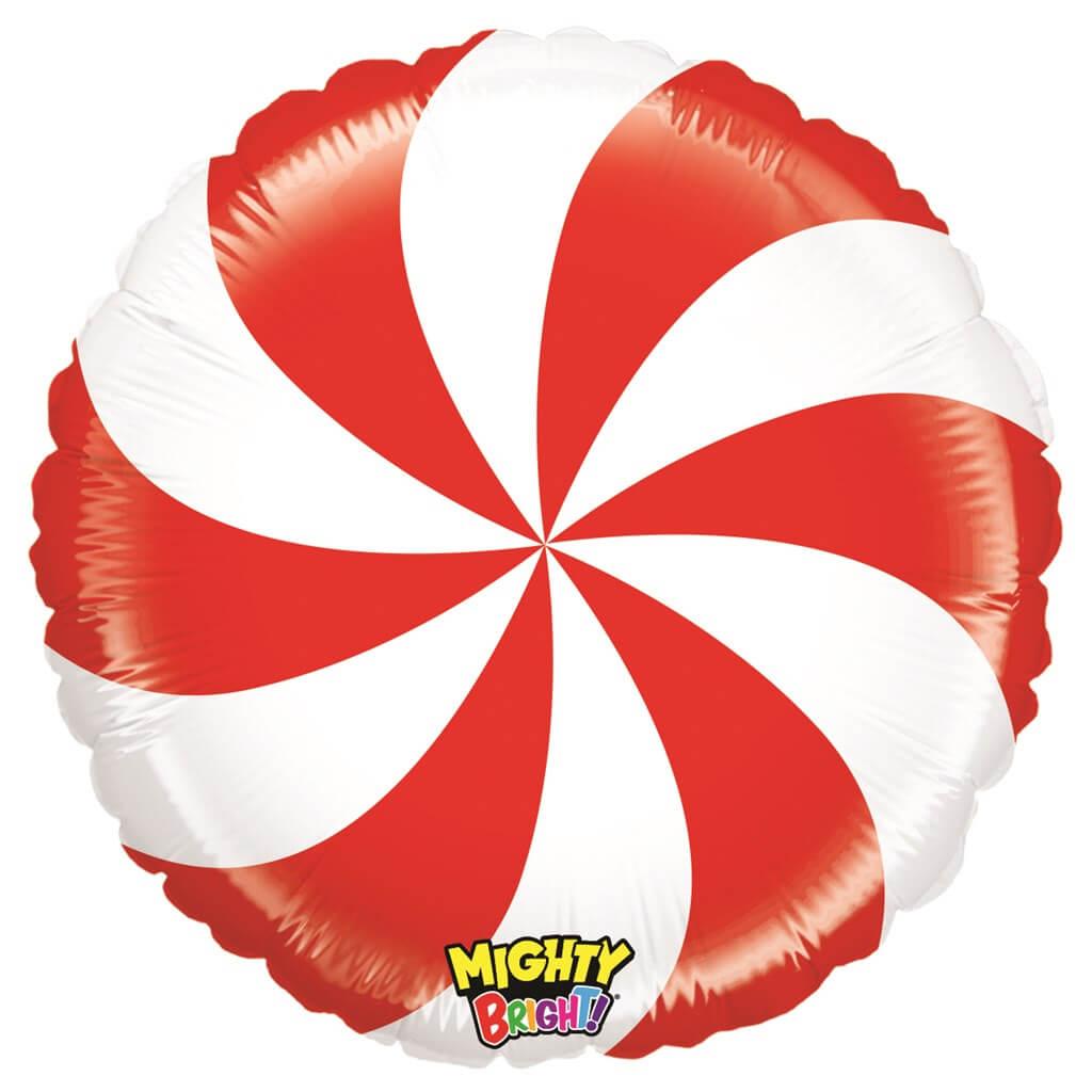 Ballon Aluminium Sucette Blanc et Rouge 53cm