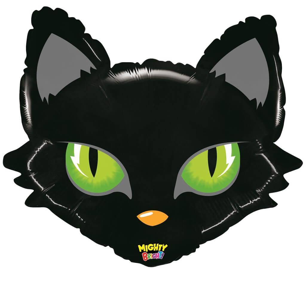Ballon Tête de Chat noir 71cm