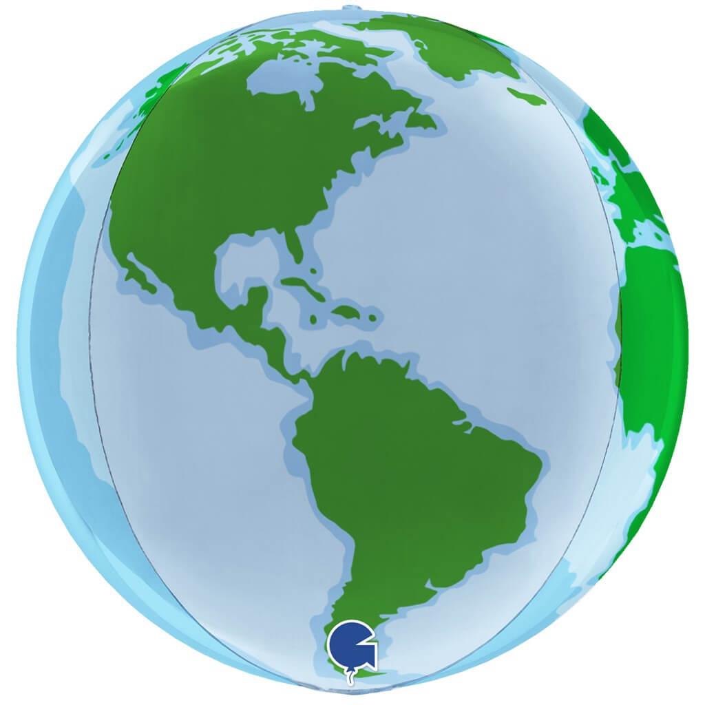 Ballon 4D Planète Terre ø38cm