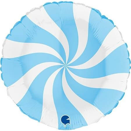 Ballon Aluminium Sucette Blanc et Bleu clair 46cm