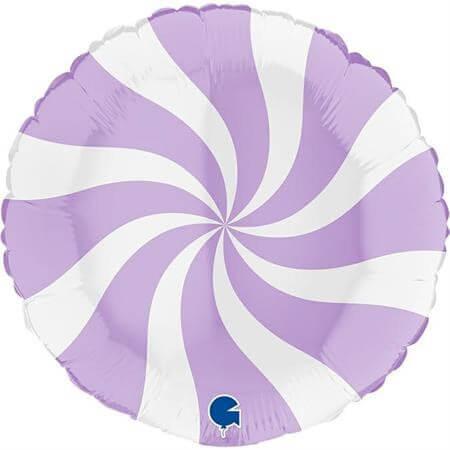 Ballon Aluminium Sucette Blanc et Violet 46cm