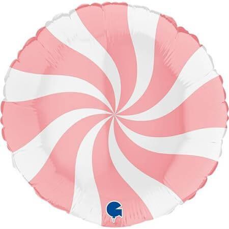 Ballon Aluminium Sucette Blanc et Rose Mat 46cm