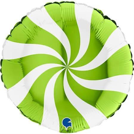 Ballon Aluminium Sucette Blanc et Vert 46cm