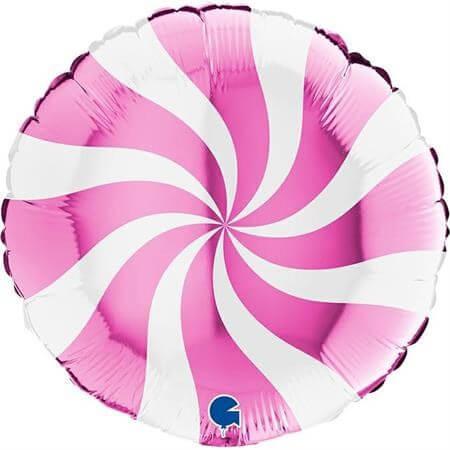Ballon Aluminium Sucette Blanc et Rose 46cm