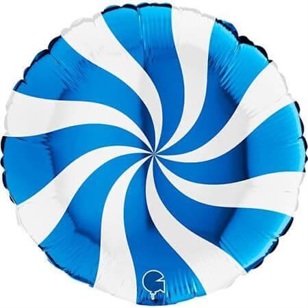 Ballon Aluminium Sucette Blanc et Bleu 46cm