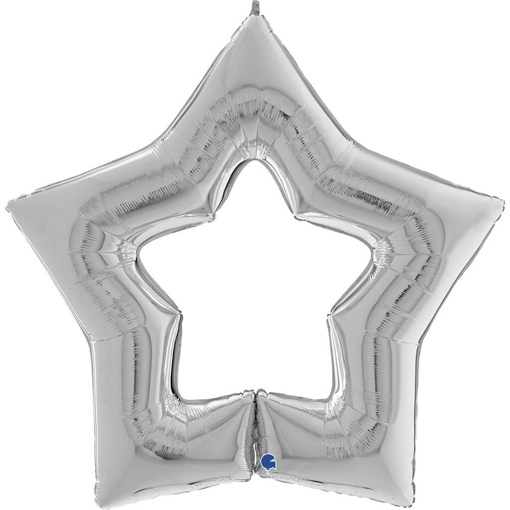 Ballon Métallique Linky Etoile Argent122cm