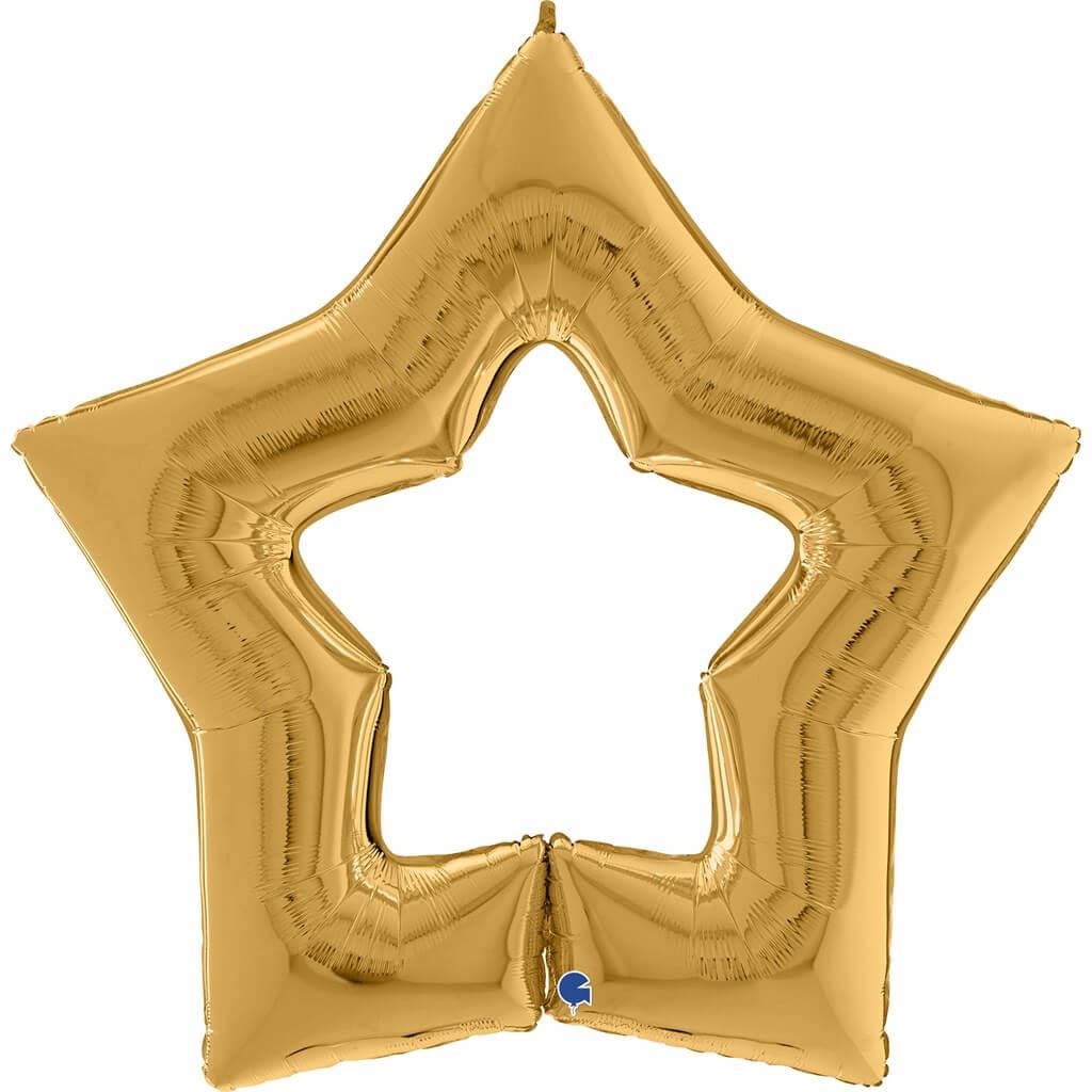Ballon Métallique Linky Étoile Or 122cm