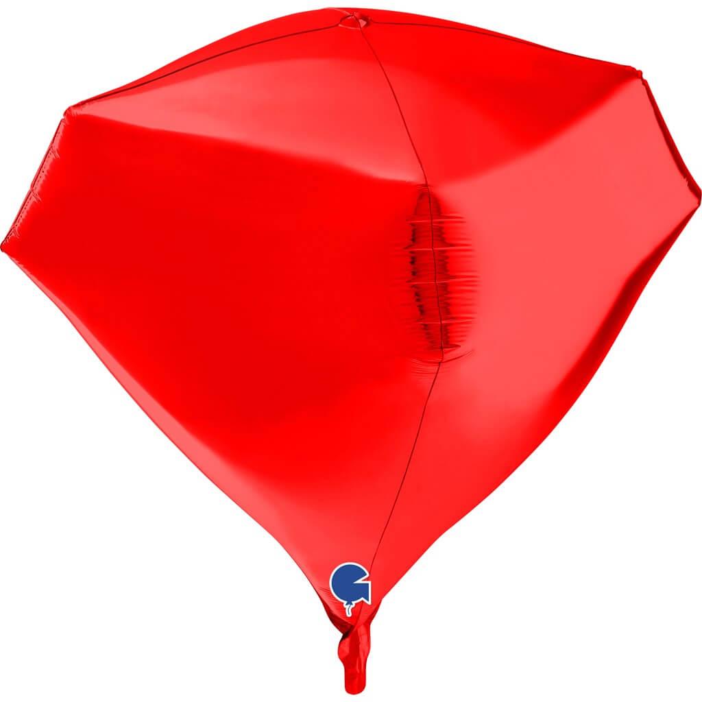 Ballon Hélium Diamant Rouge 4D 45cm