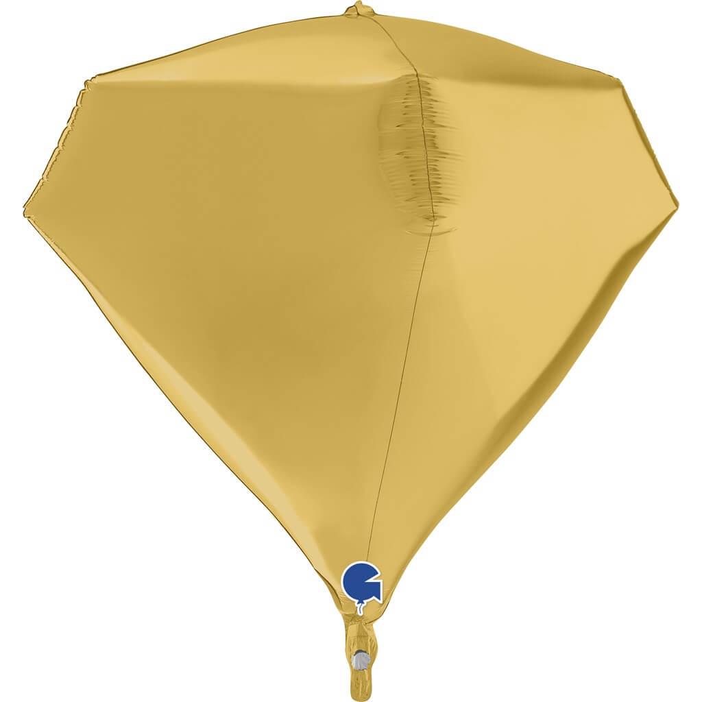 Ballon Hélium Diamant Or 4D 45cm
