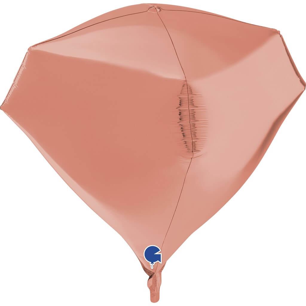 Ballon Hélium Diamant Or Rose 4D 45cm