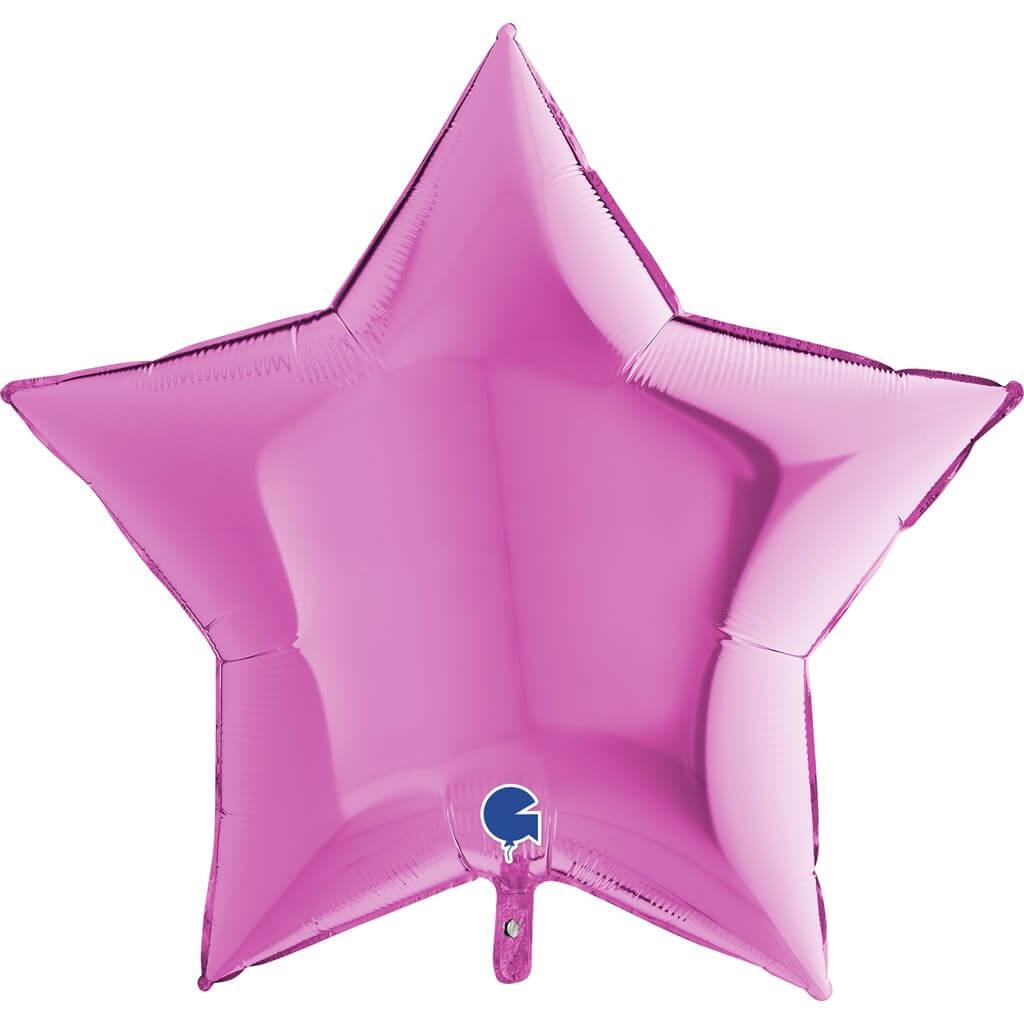 Ballon Étoile Métallique Rose 91cm