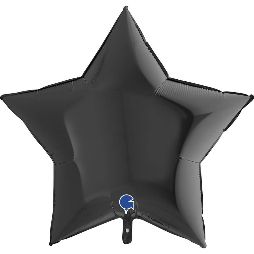 Ballon Étoile Métallique Noir 91cm