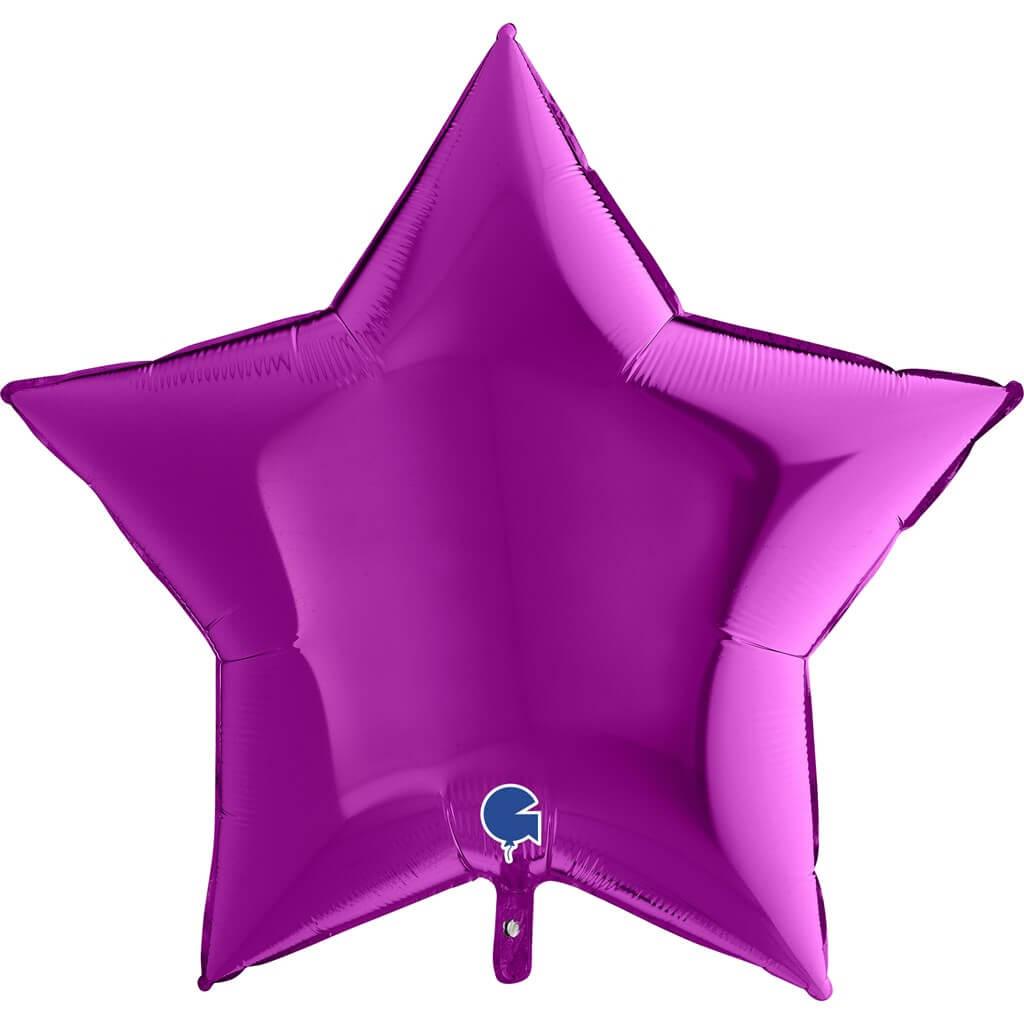 Ballon Étoile Métallique Violet 91cm
