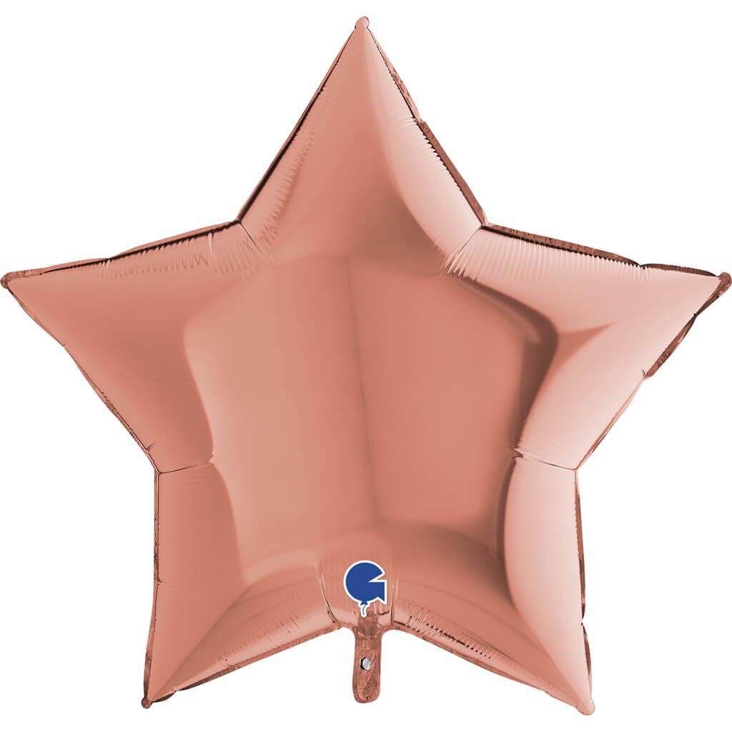 Ballon Étoile Métallique Or Rose 91cm