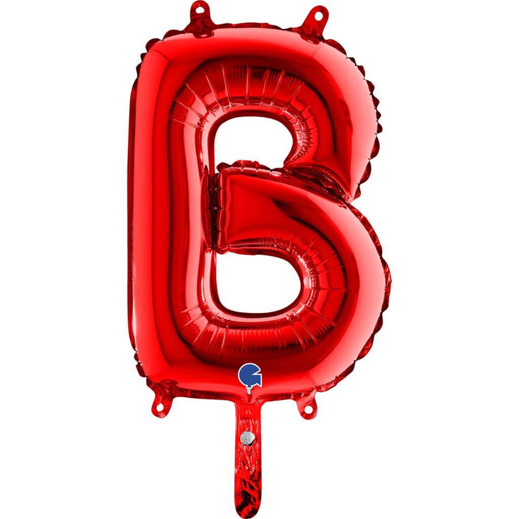 Ballon aluminium lettre B Rouge 36cm
