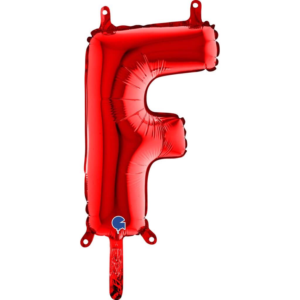 Ballon aluminium lettre F Rouge 36cm