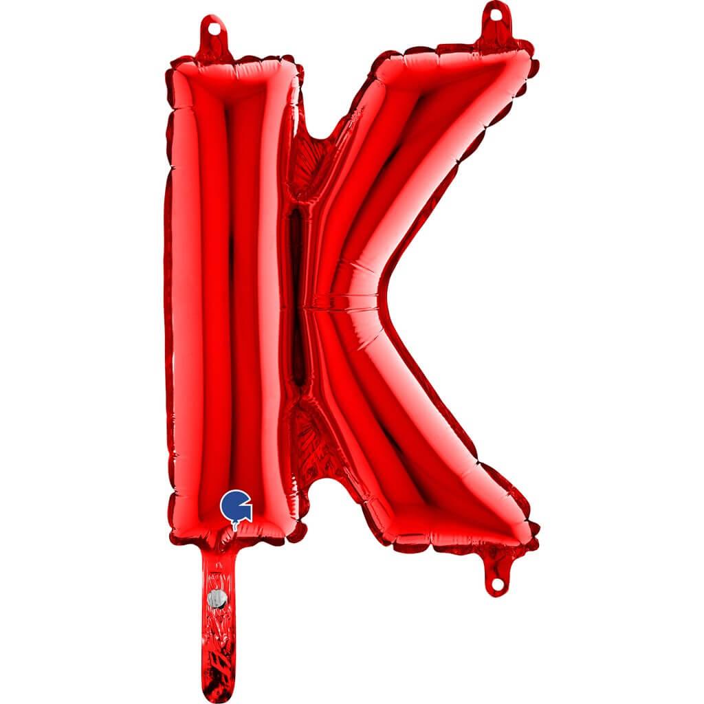 Ballon aluminium lettre K Rouge 36cm
