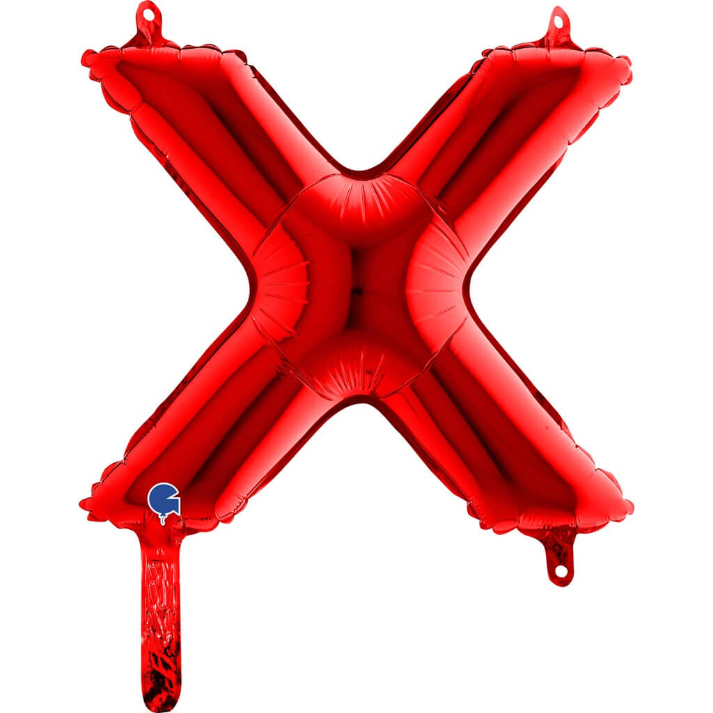 Ballon aluminium lettre X Rouge 36cm