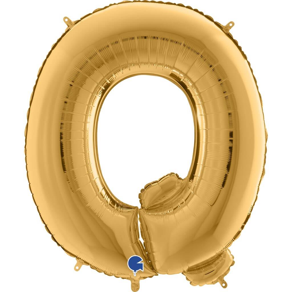 Ballon aluminium lettre Q Or 102cm