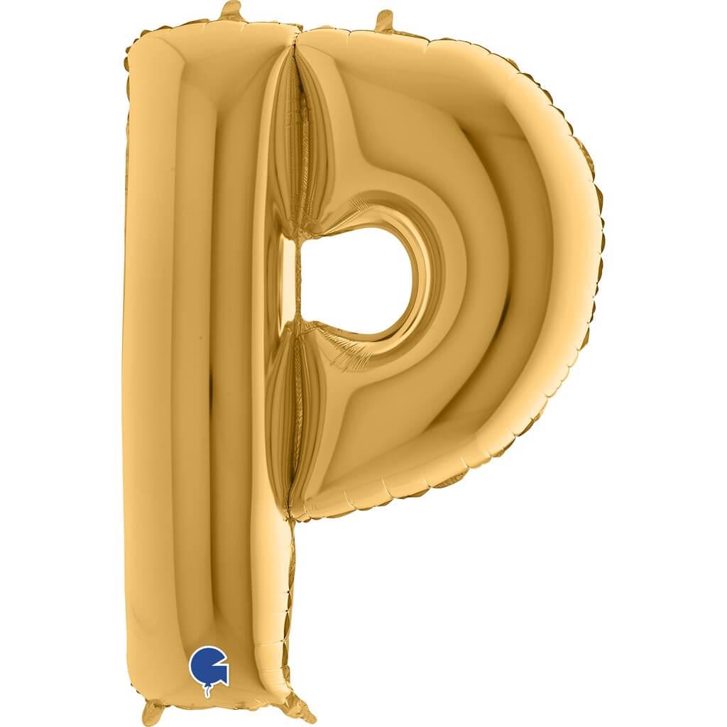 Ballon aluminium lettre P Or 102cm