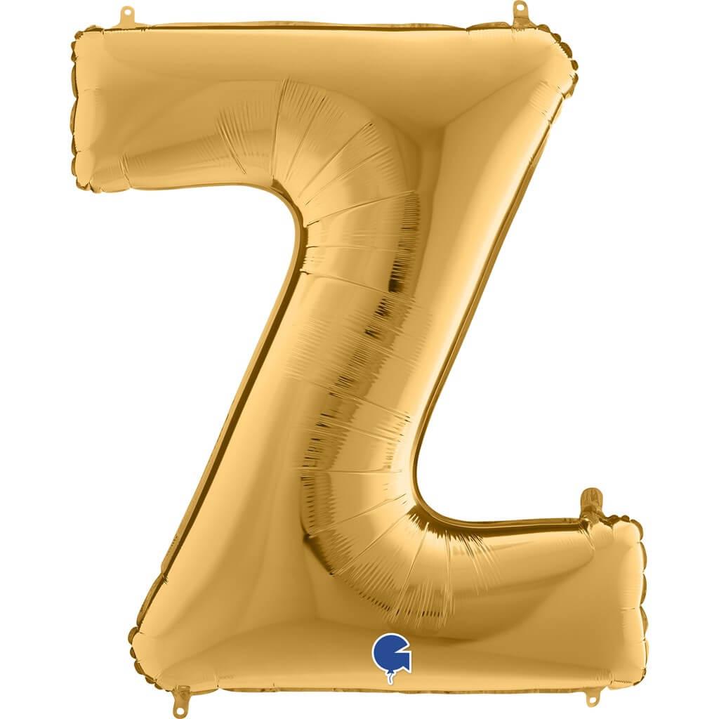 Ballon aluminium lettre Z Or 102cm