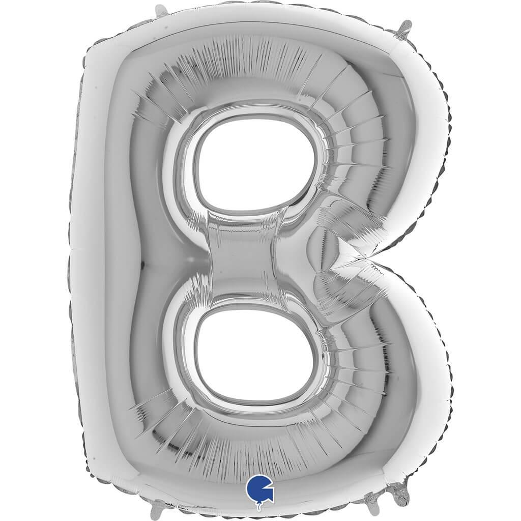 Ballon Aluminium lettre B Argent 102cm