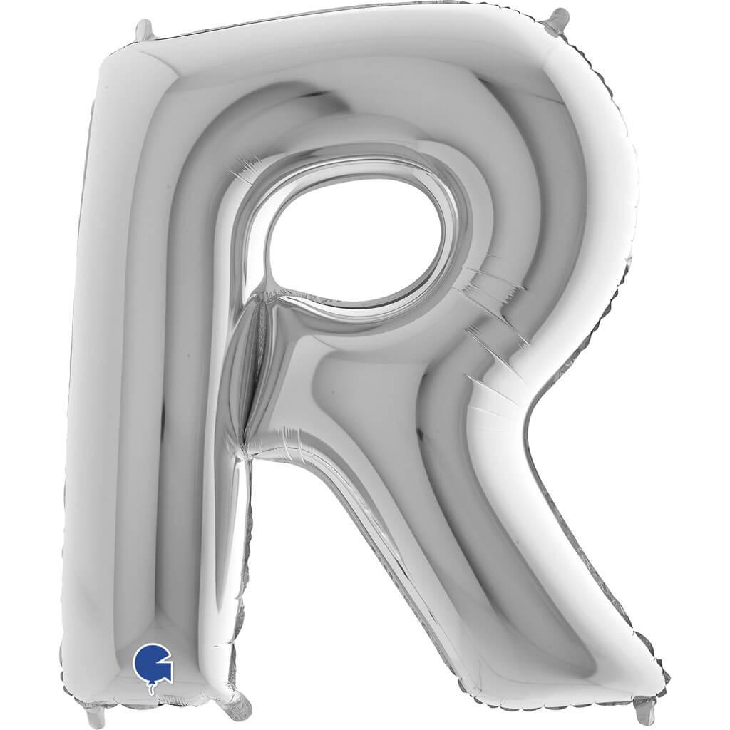 Ballon Aluminium lettre R Argent 102cm