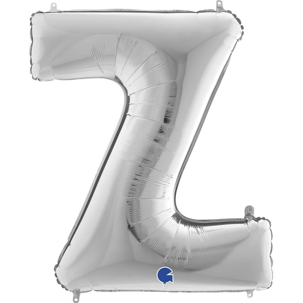 Ballon aluminium lettre Z Argent 102cm