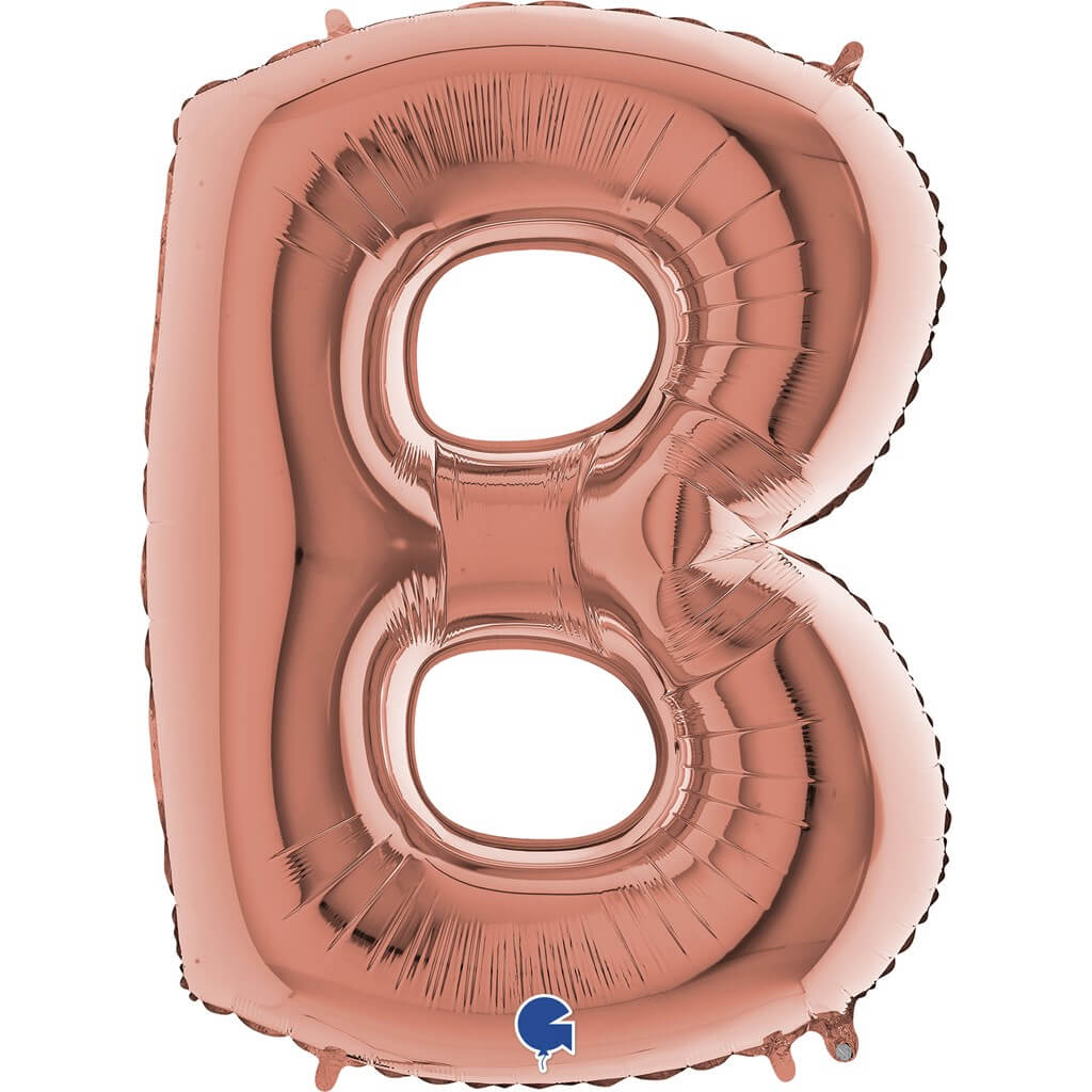 Ballon aluminium lettre B Or Rose 102cm