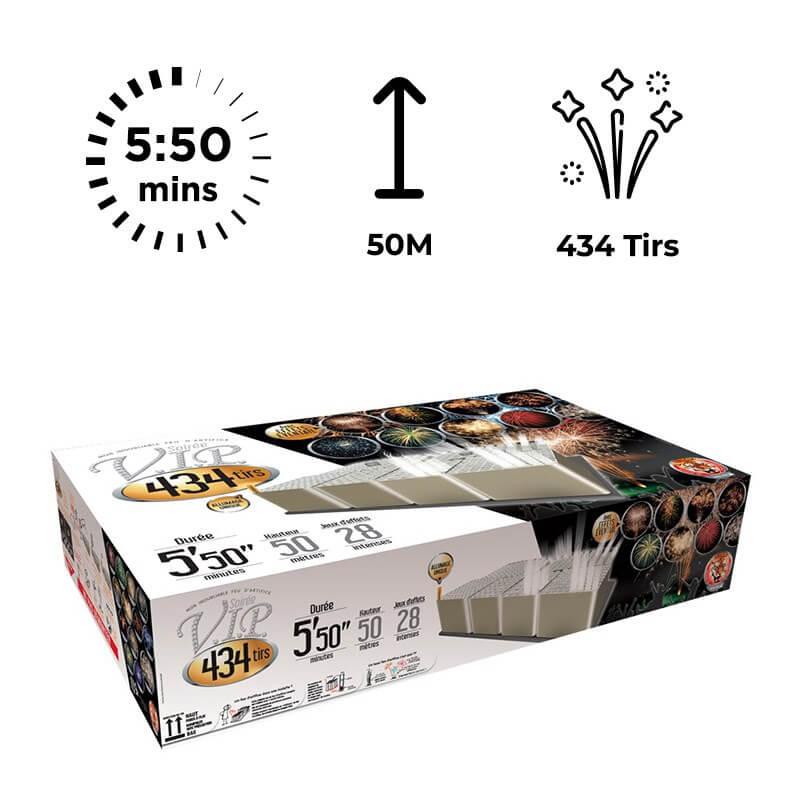 FEU D'ARTIFICE SOIREE V.I.P® 434 TIRS - 5'50 minutes