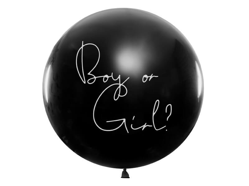 Ballon confettis Gender Reveal Girl