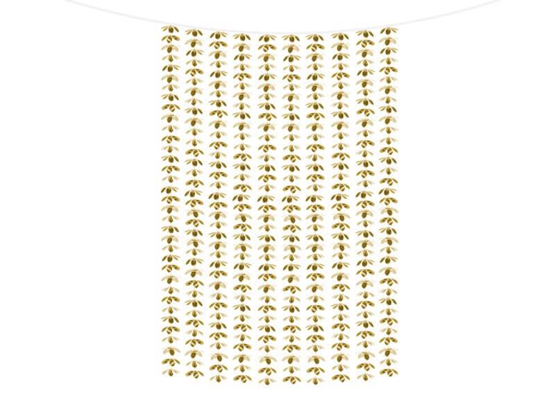 Toile de fond en feuille d'Or 100x210cm