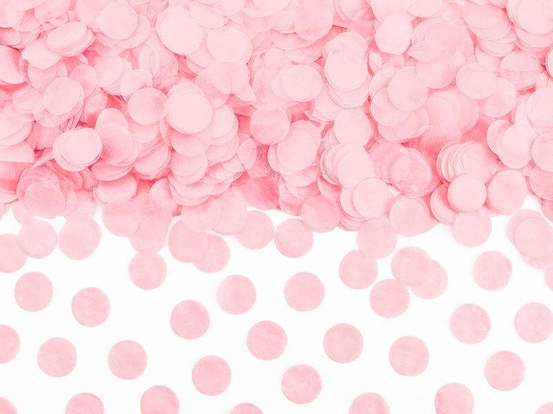 Confettis ronds rose clair  (15gr)