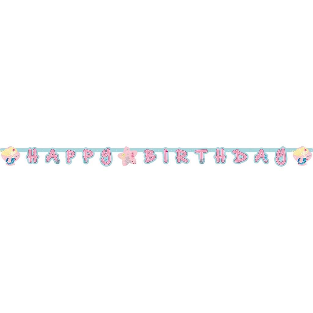 Guirlande en papier Sirène Happy Birthday