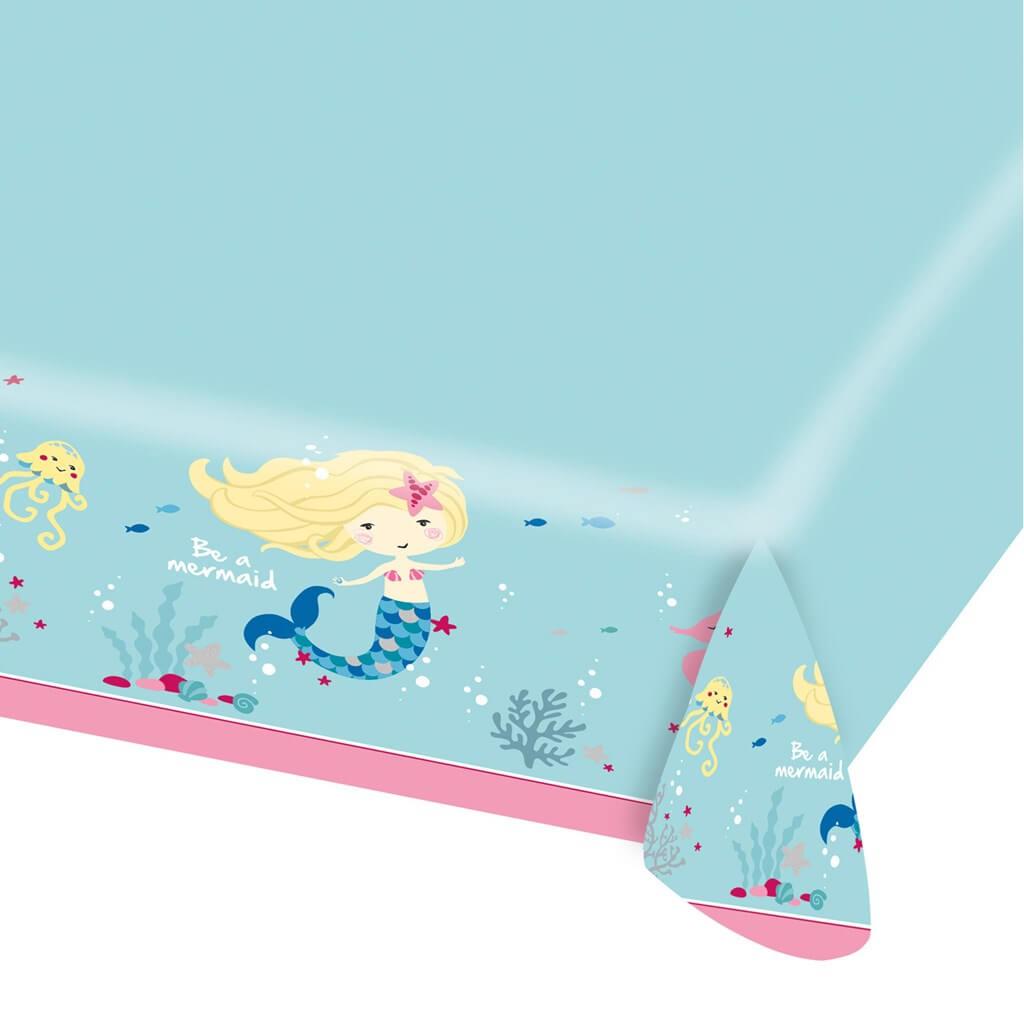 Nappe en Papier Sirène Be a Mermaid 115x175cm