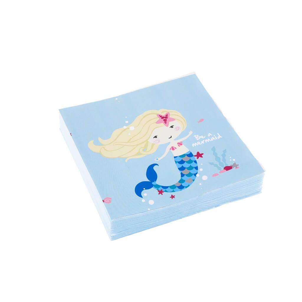 Serviette en papier Sirène Be a Mermaid (lot de 20)