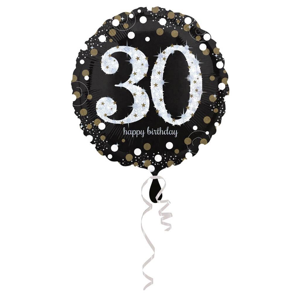 Ballon Anniversaire rond 30 ans argent
