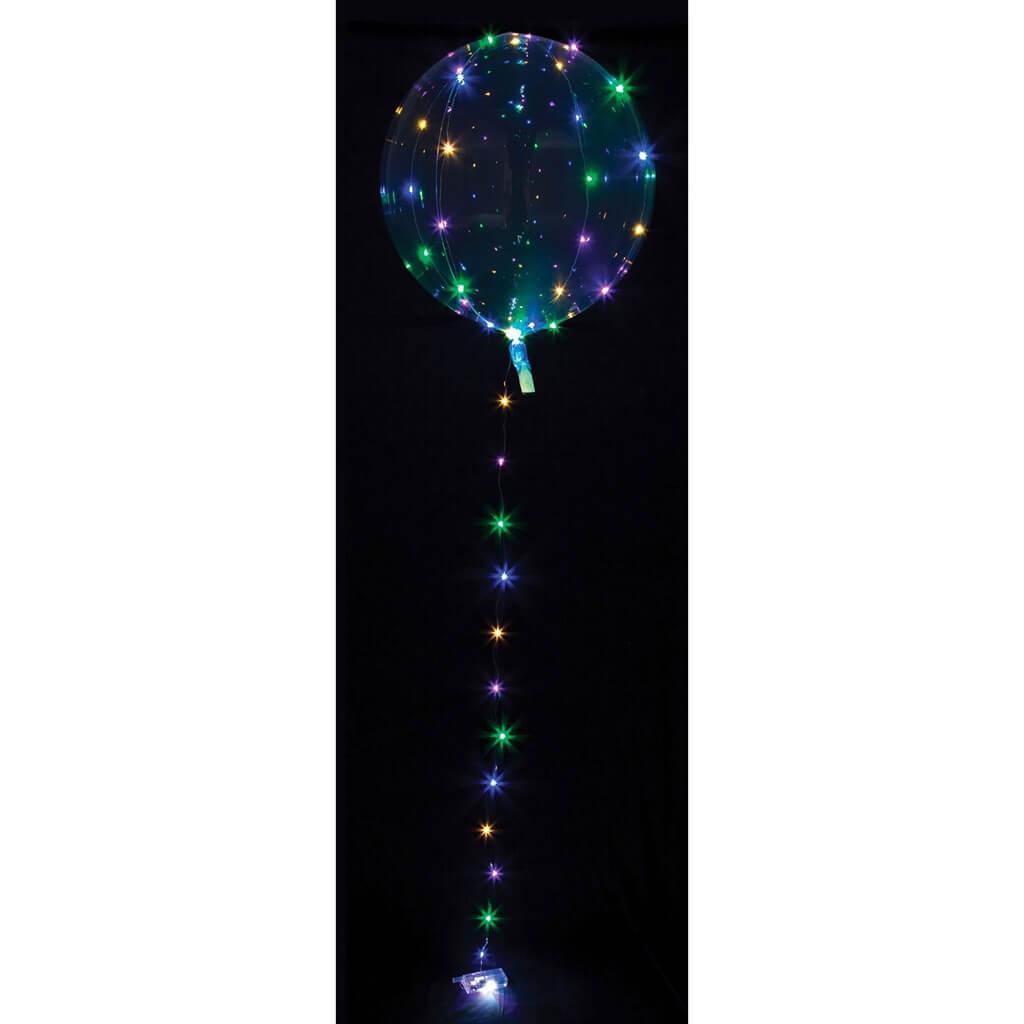 Ballon transparent à LED Multicolore ø40cm