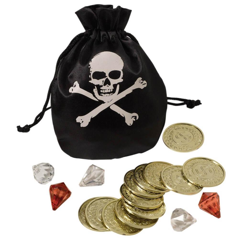 Accessoires Bourse Pirate pièces et diamants
